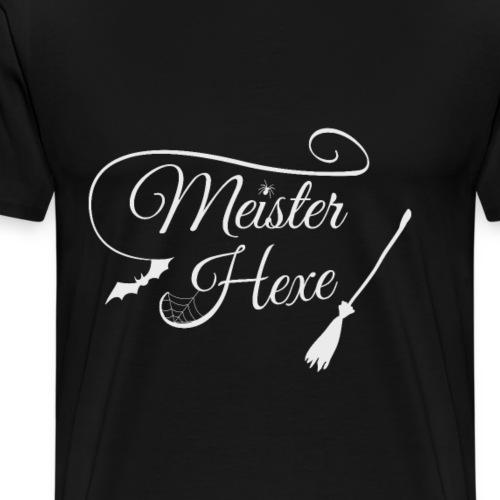 Meister Hexe Halloween Design Geschenk für Frauen - Männer Premium T-Shirt