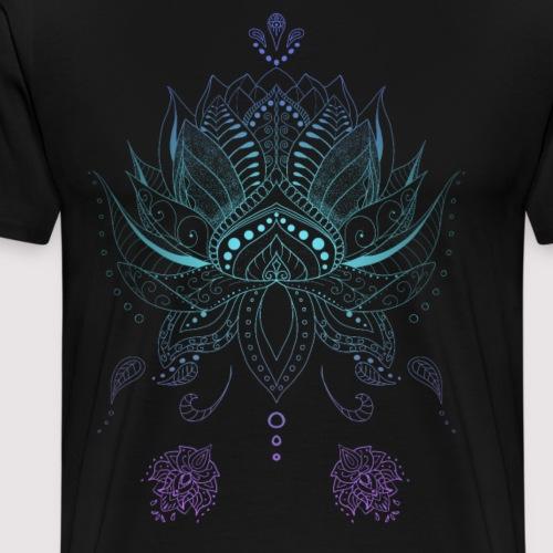 Lotusblume indisch Boho Stil Mandala Ornamenten - Männer Premium T-Shirt