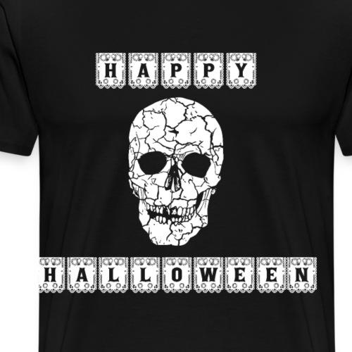Happy Halloween Totenkopf Tag der Toten Geschenk - Männer Premium T-Shirt