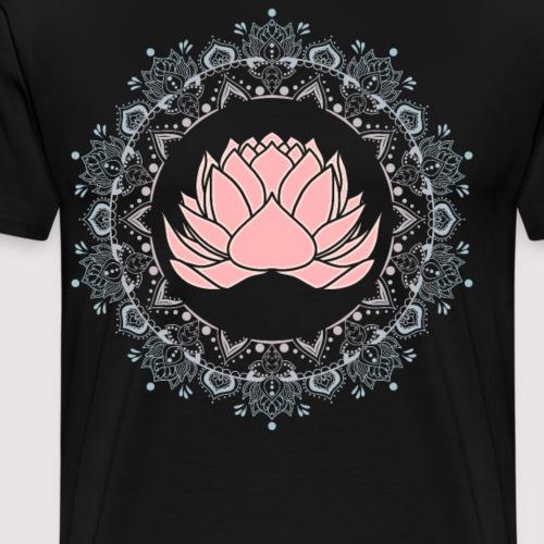 Namaste und Om Mandala Blume mit Ornamenten - Männer Premium T-Shirt