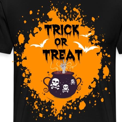 Halloween Trick or Treat Splash Hexenkessel Peace - Männer Premium T-Shirt