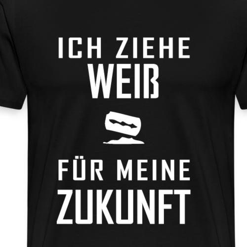 hardtekk techno tekkno ziehe weiß - Männer Premium T-Shirt