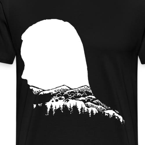 Berge Berg Gebirge Wandern Frau Wanderer - Männer Premium T-Shirt