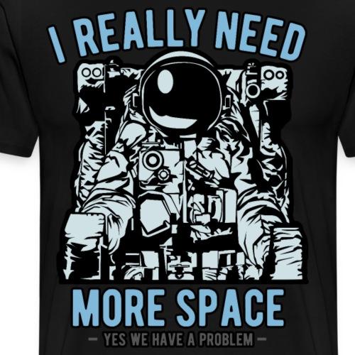 Space Astronaut Introvertiert - Männer Premium T-Shirt
