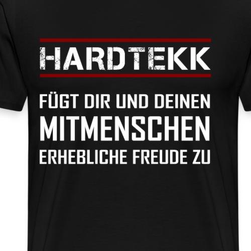 hardtekk techno tekkno hardstyke speedcore - Männer Premium T-Shirt