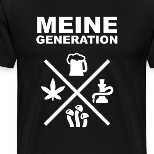 hardtekk techno tekkno Meine Generation - Männer Premium T-Shirt