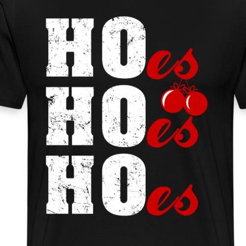 Ho Ho Ho Weihnachtsmann Wortspiel Lustig - Männer Premium T-Shirt