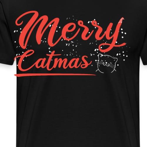 Merry Catmas Weihnachtskatze - Männer Premium T-Shirt