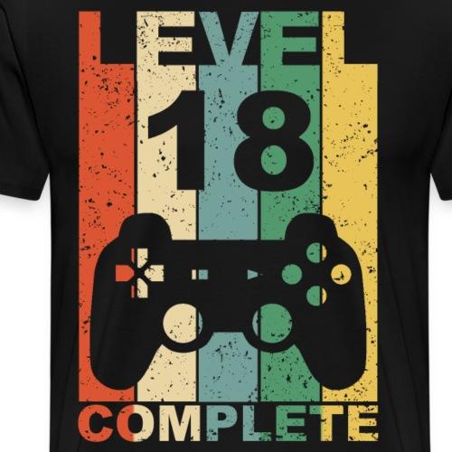 18. Geburtstag 18 Jahre Level Complete - Männer Premium T-Shirt