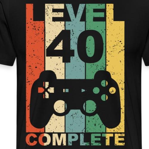40. Geburtstag 40 Jahre Level Complete - Männer Premium T-Shirt