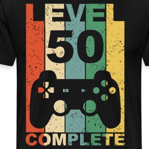 50. Geburtstag 50 Jahre Level Complete Gamer - Männer Premium T-Shirt