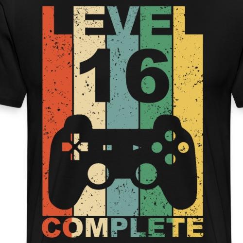 16. Geburtstag 16 Jahre Level Complete - Männer Premium T-Shirt