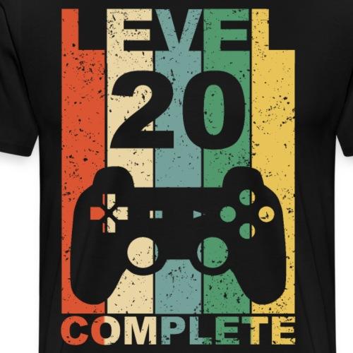 20. Geburtstag 20 Jahre Level Complete Gamer - Männer Premium T-Shirt