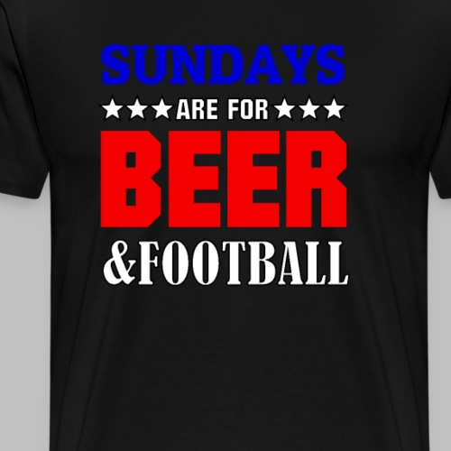 American Football sundays are for beer & football - Männer Premium T-Shirt