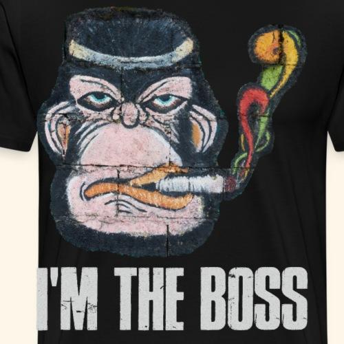 I am the Boss Cooler Affe Anführer im Job Familie - Männer Premium T-Shirt
