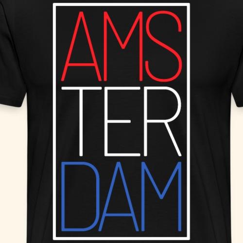 Amsterdam Niederlande Fahne Holland Reisende Expat - Männer Premium T-Shirt