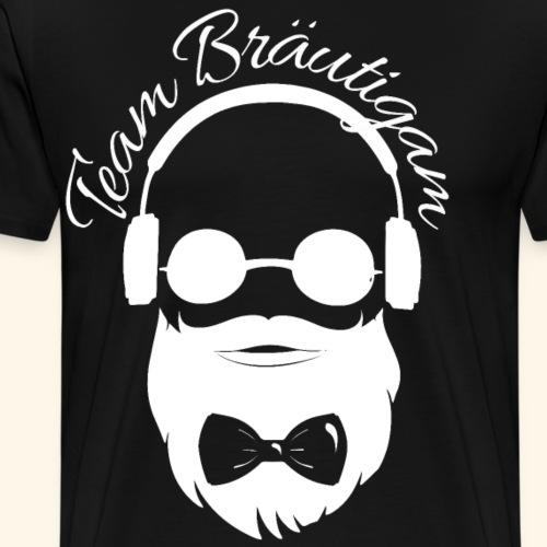 Team Bräutigam cooler Hipster Junggesellenabschied - Männer Premium T-Shirt