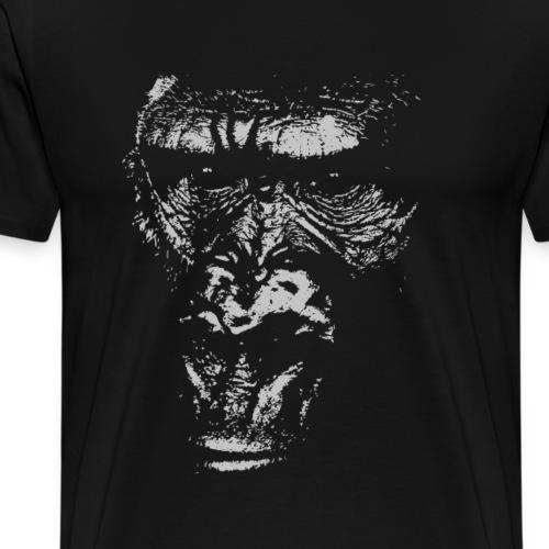 Junger Gorilla Silverback Gesicht Affengesicht - Männer Premium T-Shirt