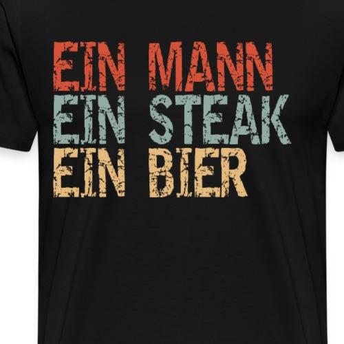 BBQ und Bier Sprüche Geschenkidee - Männer Premium T-Shirt