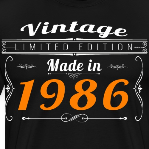 Vintage made in 1986 - T-shirt Premium Homme