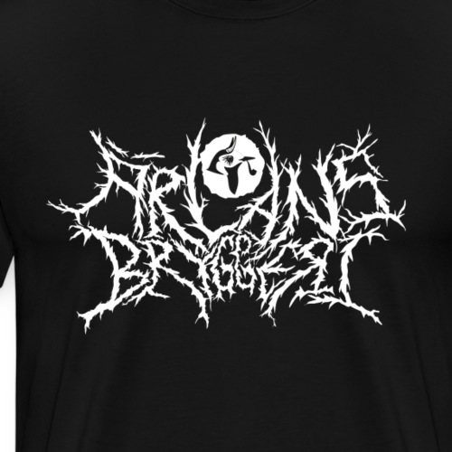 Ärlans deathmetal white print - Premium-T-shirt herr