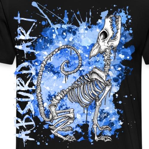 Knochentierchen Wolf von Absurd ART - Männer Premium T-Shirt