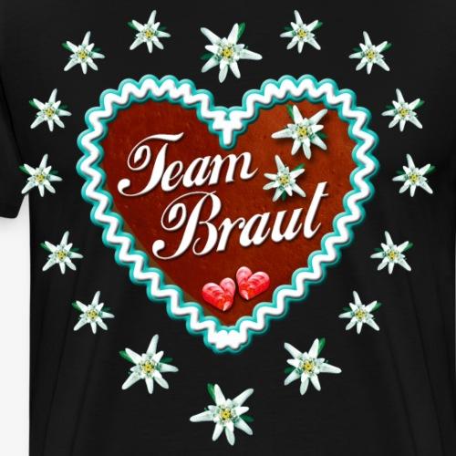 15 Lebkuchenherz Team Braut Party Bayern JGA - Männer Premium T-Shirt