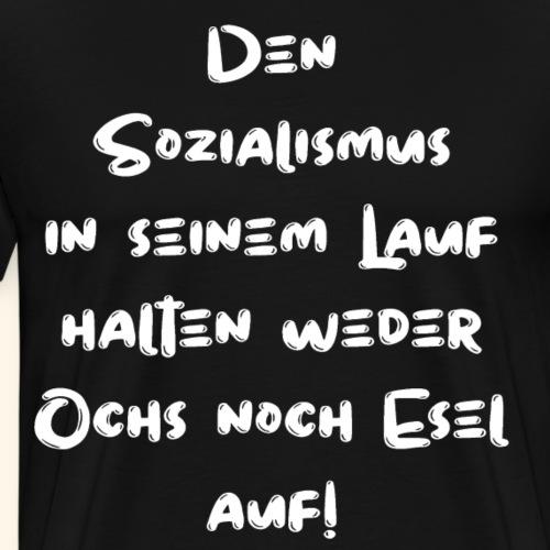DDR Sozialismus Ostalgie Geschenk Idee - Männer Premium T-Shirt