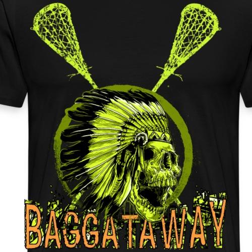 Baggataway Lacrosse Shirt LAX Box Lacrosse Skull - Männer Premium T-Shirt