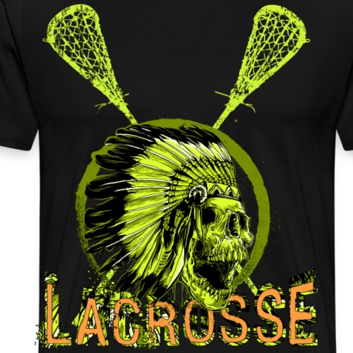 Lacrosse LaX Box Lacrosse Skull Shirt - Männer Premium T-Shirt