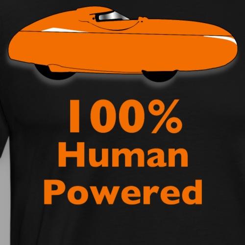 100% human powered - Miesten premium t-paita