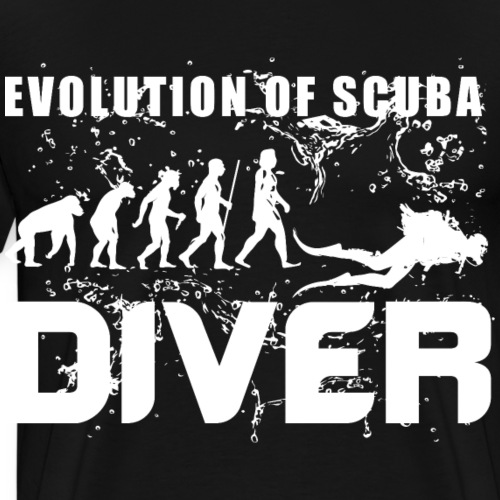 EVOLUTION OF SCUBA DIVER - Männer Premium T-Shirt