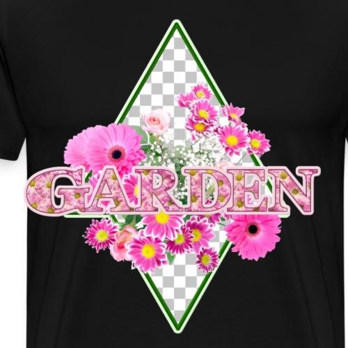 Garden mit rosa Blumen - Männer Premium T-Shirt