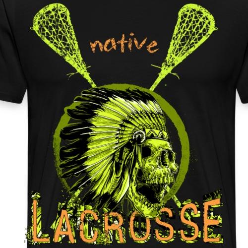 Lacrosse Shirt, Lax, Box Lacrosse, Skull Totenkopf - Männer Premium T-Shirt