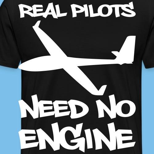 Lustiger Spruch Segelflugzeug Segelflieger gleiten - Männer Premium T-Shirt
