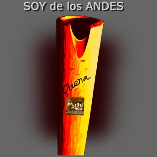 De los ANDES - La Quena - Men's Premium T-Shirt