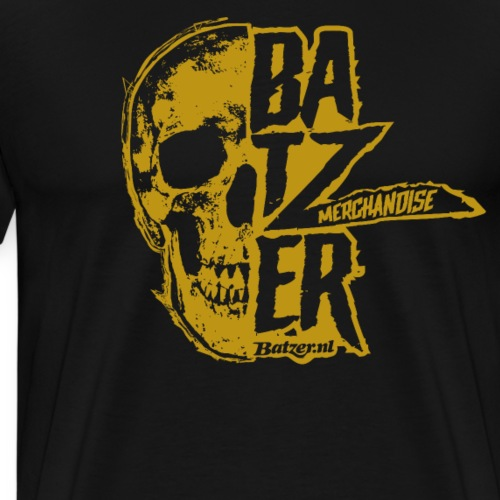 Batzer Skull Geel - Mannen Premium T-shirt