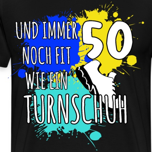 50 Geburtstag Läufer Trainer Trail Shirt Geschenk - Männer Premium T-Shirt