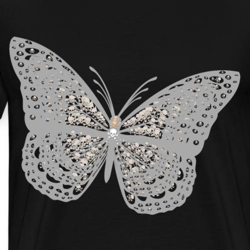 Süßer Schmetterling mit filigranen Totenköpfen - Männer Premium T-Shirt