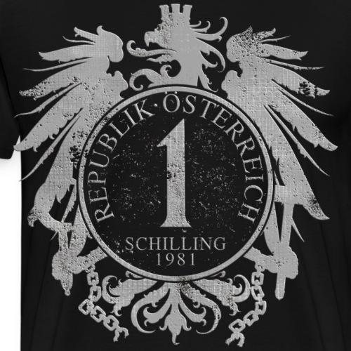 Österreich Bundesadler Schilling 1981 - Männer Premium T-Shirt
