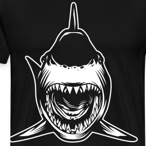 Requin gueule ouverte - T-shirt Premium Homme