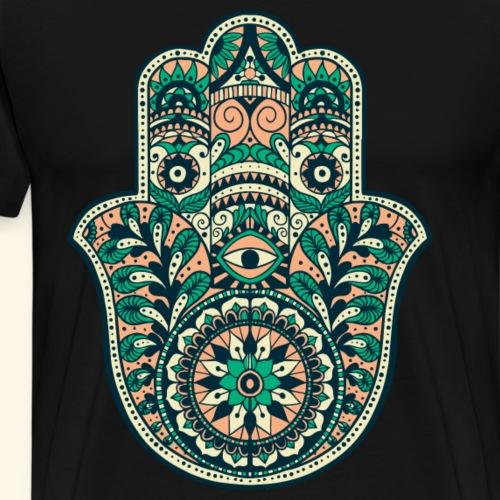 Yoga Hand - Männer Premium T-Shirt