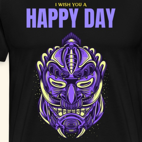 I wish you a happy day Creature - Männer Premium T-Shirt