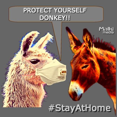 Protect Yourself Donkey - Coronavirus - Männer Premium T-Shirt