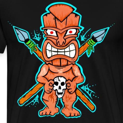 Tiki-Shirt handgemalt - Männer Premium T-Shirt