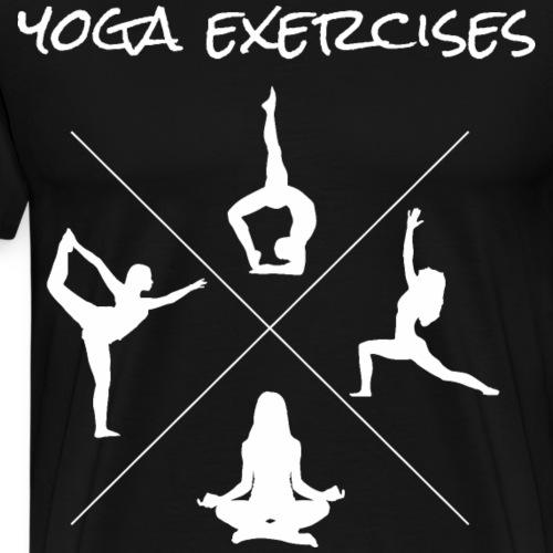 Yoga Exercises Übungen Shirt - Männer Premium T-Shirt