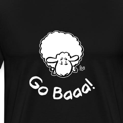 Schafe gehen Baaa! (schwarze Ausgabe) - Männer Premium T-Shirt