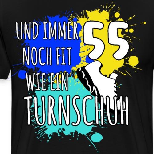 55 Geburtstag Läufer Trainer Jogger Shirt Geschenk - Männer Premium T-Shirt