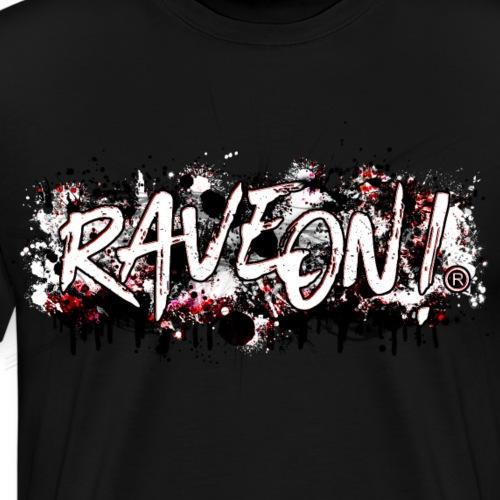 Rave On! Graffiti Art - Red White Modern Art - Männer Premium T-Shirt