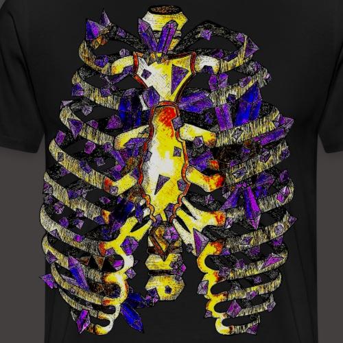 La Cage Thoracique de Cristal Creepy - T-shirt Premium Homme